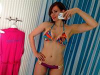 Maitland Ward in a bikini taking a selfie