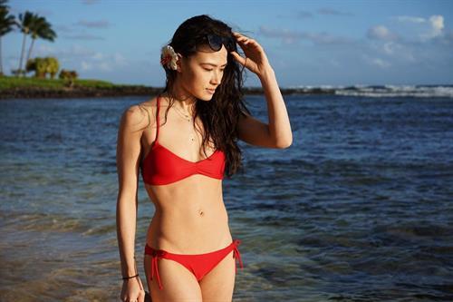 Madison Chock in a bikini