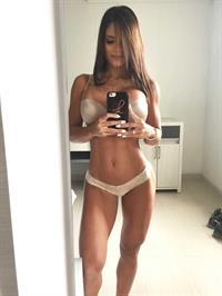 Michelle Lewin in lingerie taking a selfie