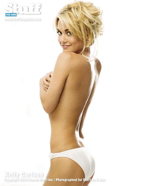 Kelly Carlson in lingerie - ass