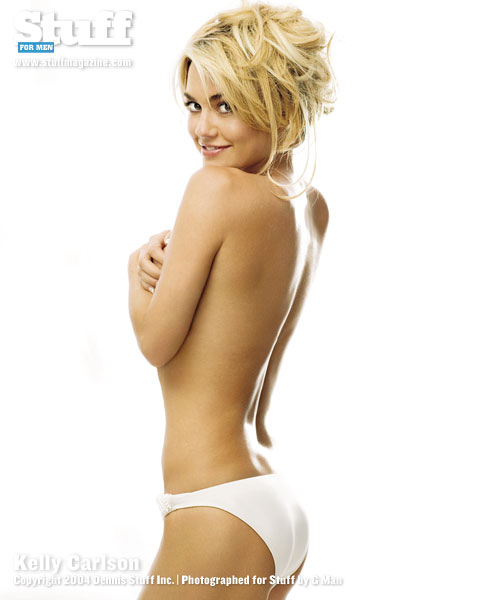 Kelly Carlson in lingerie - ass