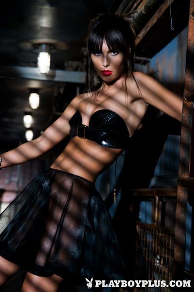 Playboy Cybergirl - Brittny Ward Nude Photos & Videos at Playboy Plus! (dark lighting)