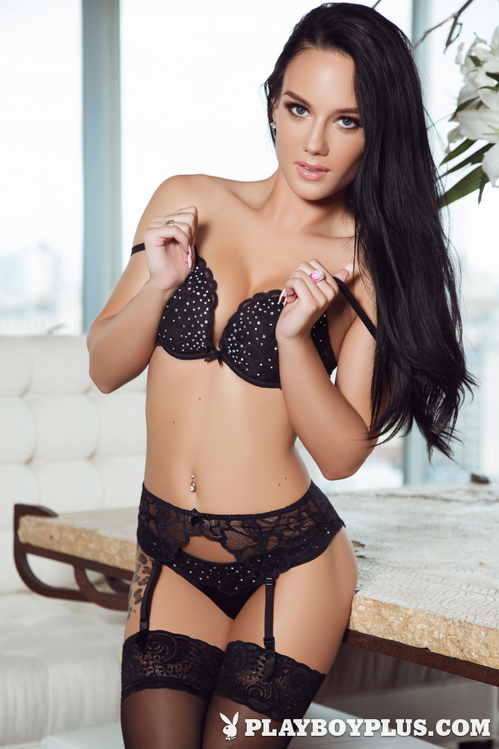 Playboy Cybergirl - Meghan Leopard Nude Photos & Videos at Playboy Plus! (black lingerie)