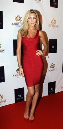 Abbey Clancy opening of Embassy Dubai at Grosvenor House Hotel on November 16, 2011