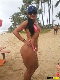 Mulher Mamão in a bikini