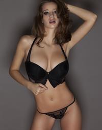 Emily Agnes in lingerie