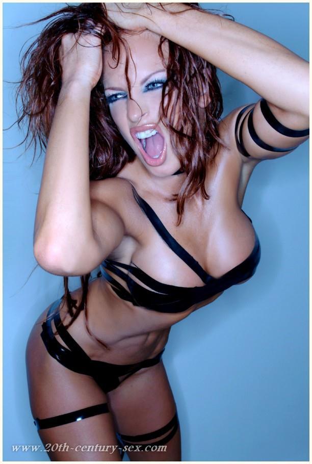 Christy Hemme in lingerie