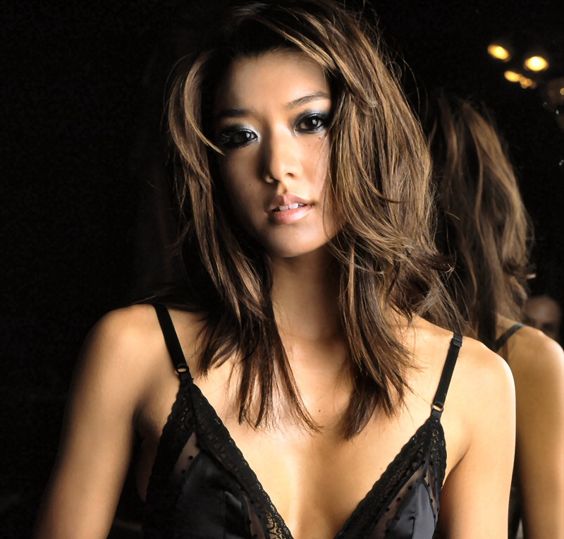 Grace Park in lingerie