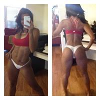 Vida Guerra in a bikini taking a selfie