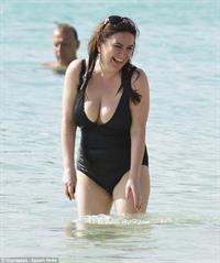 Debbie Rush in a bikini