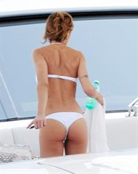 Elisabetta Canalis in a bikini - ass