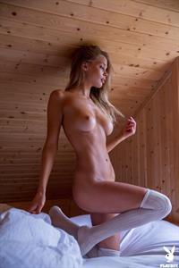 Allie Leggett poses for Playboy
