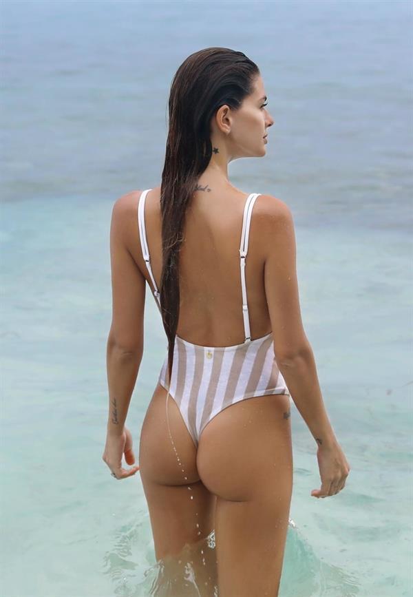María Eugenia Suárez in a bikini - ass