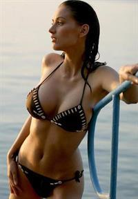 Zsuzsanna Ripli in a bikini