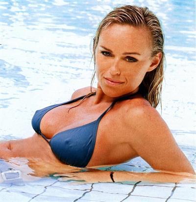 Cecile de Menibus in a bikini - breasts