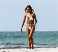 Ariadna Gutierrez caught nude by paparazzi during a bikini photo shoot changing bikinis showing her boobs and ass.