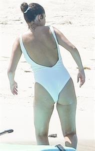 Selena Gomez sexy ass in a swimsuit seen on the beach by paparazzi.