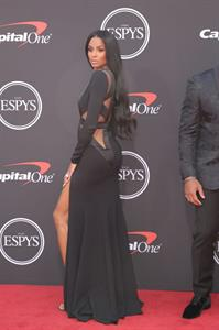 Ciara sexy cleavage in a revealing dress on the red carpet for The ESPY's.
