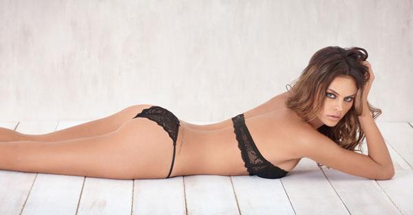 Daniela Freitas in lingerie - ass