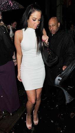 Tulisa Contostavlos Goucho restaurant in Manchester, March 16, 2013
