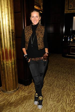 Victoria Azarenka attend the BNP Paribas Tennis Showdown Cocktail Party at Essex House in New York - March 3, 2013