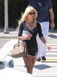 Victoria Silvstedt strolling in Miami Beach on March 21, 2013