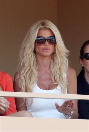Victoria Silvstedt Attends Novak Djokovic match at Monte-Carlo RoleMasters in Monaco (April 18, 2013)
