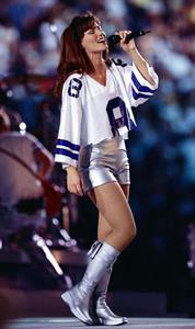 Shania Twain in Dallas Cowboys Jerseys