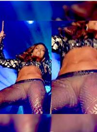 Jennifer Lopez pussy flash wardrobe malfunction accidentally showing her pussy on stage in see through tight pants.
