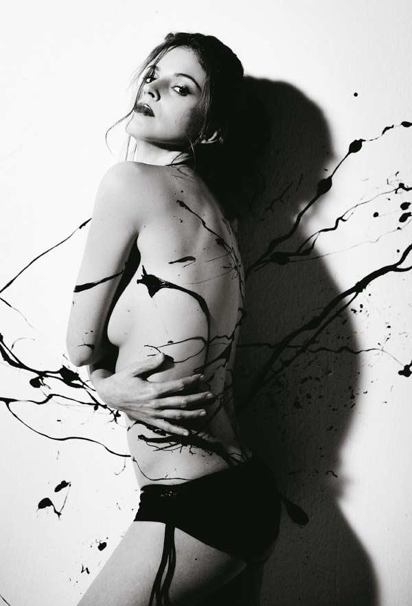 Michelle Jenner in body paint