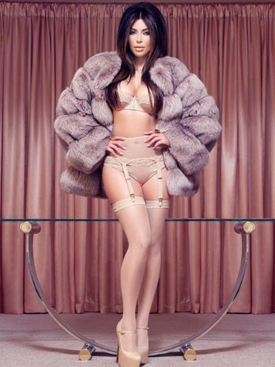 Kim Kardashian in lingerie