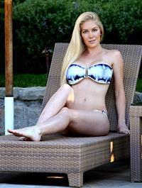 Heidi Montag in a tie dye bikini