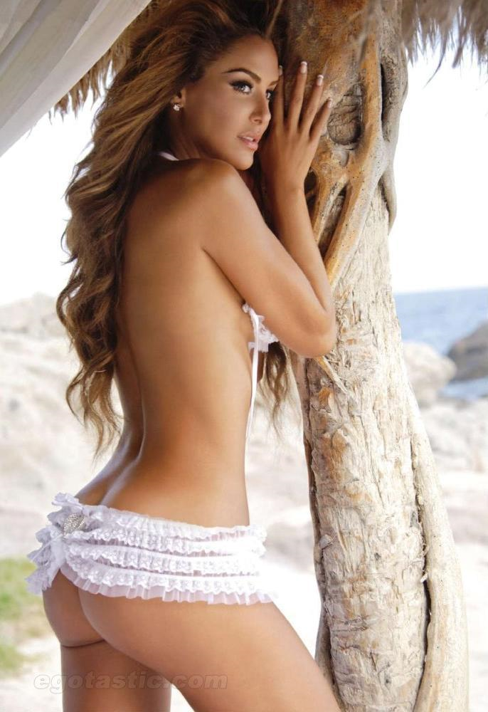 Ninel Conde in lingerie - ass