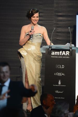 Milla Jovovich - amfAR's Cinema Against AIDS benefit in Antibes - 5/24/12