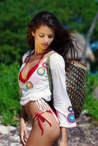 Bruna Lirio in a bikini