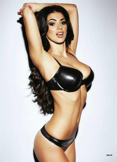 Georgia Salpa in a bikini