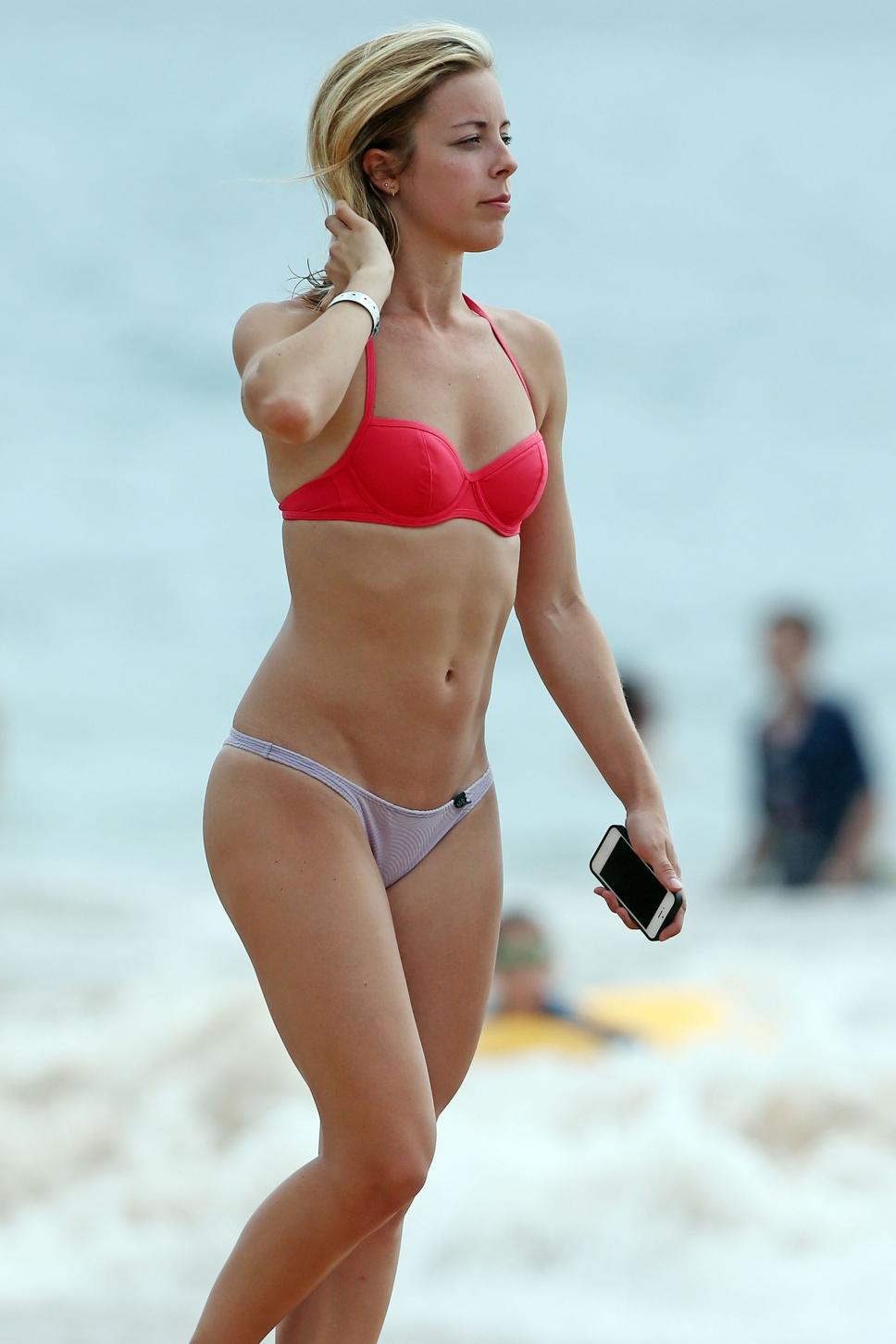 Ashley Wagner in a bikini