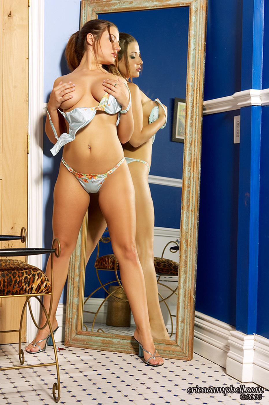 Erica Campbell in a bikini