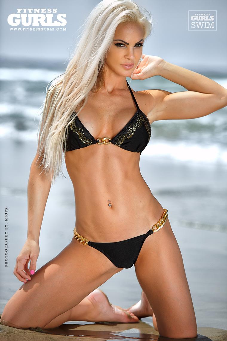 Claire Rae in a bikini