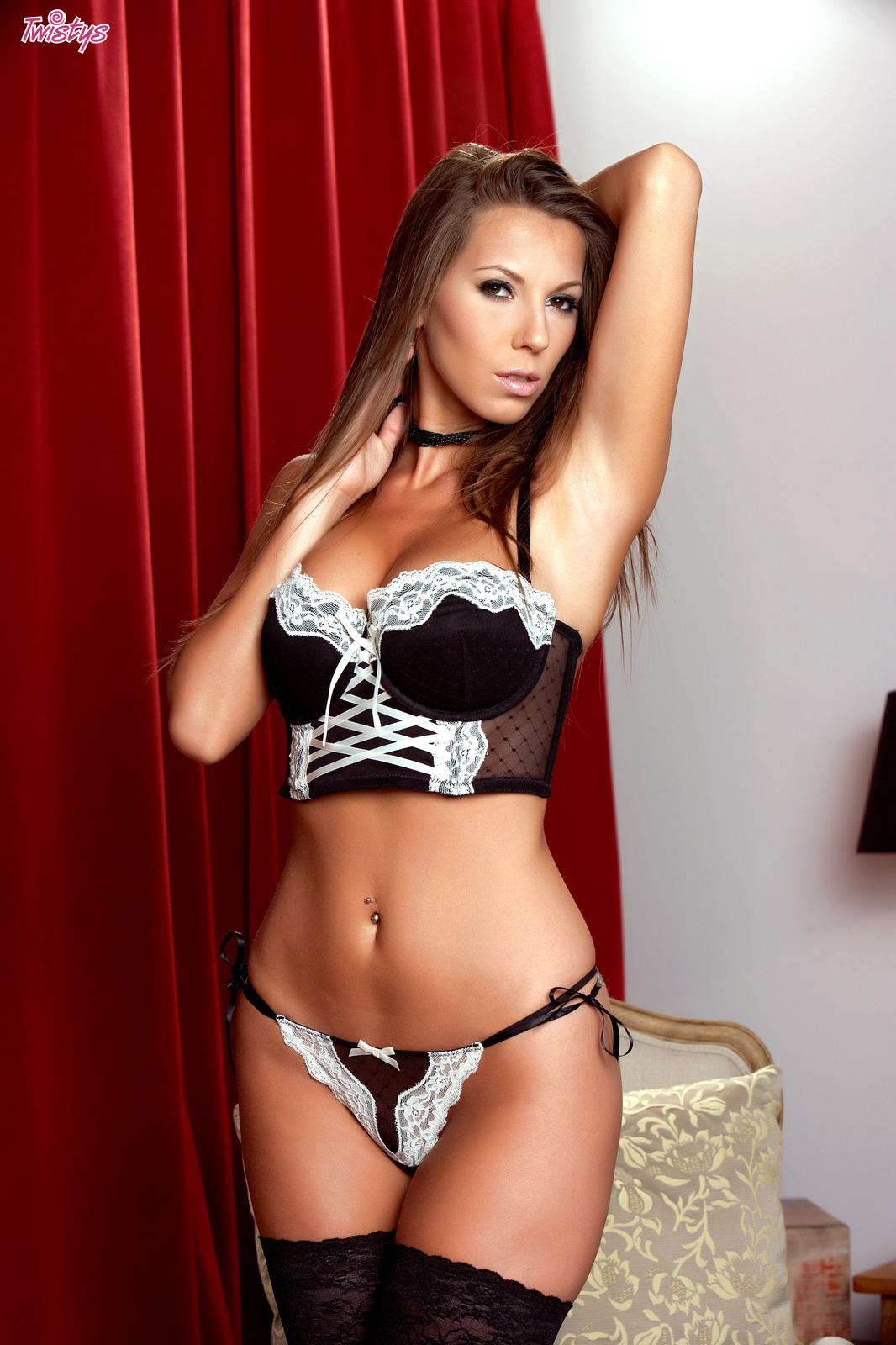 Lizzie Ryan in lingerie