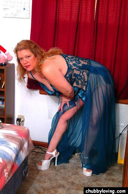 Meg in lingerie