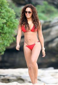 Melanie Brown in a bikini