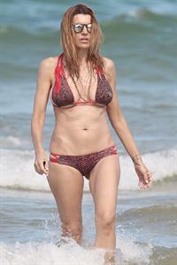 Rita Rusic in a string bikini in Miami