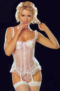 Joanne Guest in lingerie